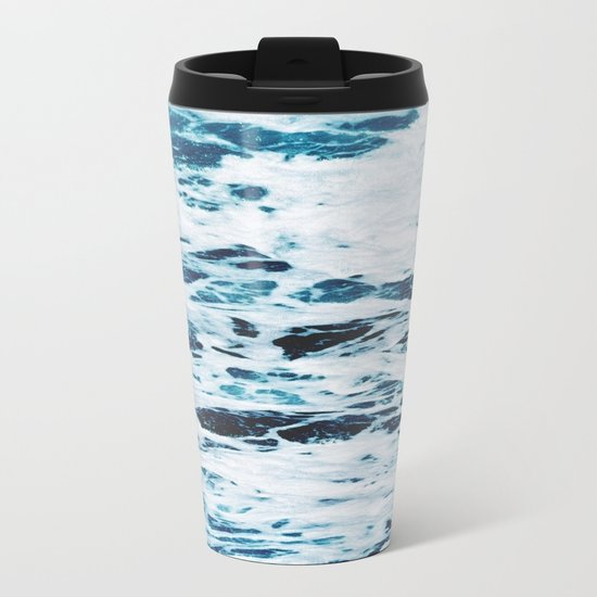 Marble Ocean Metal Travel Mug