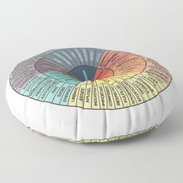 Wheel Of Emotions Floor Pillow