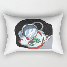 Astronout with cordless screwdriver Rectangular Pillow