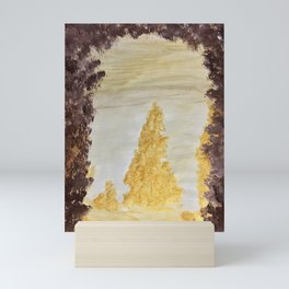 Golden secluded forest Mini Art Print