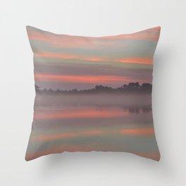 Autumn Sunrise - Pastel Throw Pillow