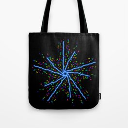 Electric Star Kaleidoscope Graphic Tote Bag
