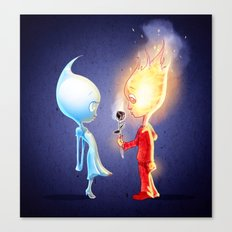 Flameo and Dropliette Canvas Print