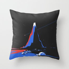 Asteroid Fly By Throw Pillow