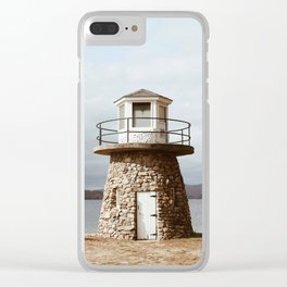 New England Lighthouse Clear iPhone Case