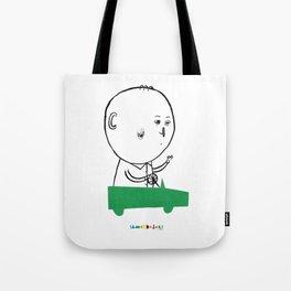 A man in a car Tote Bag
