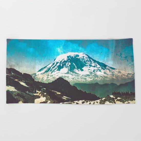 Mt Adams from Mt Rainier Washington State Beach Towel