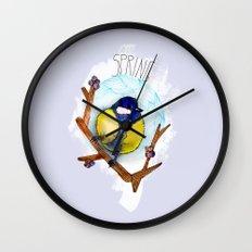 Spring birdy / Nr. 3 Wall Clock
