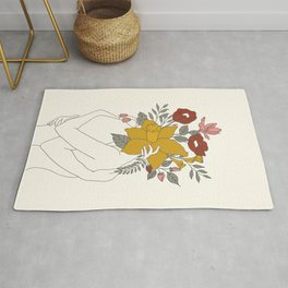 Colorful Blossom Hug Rug