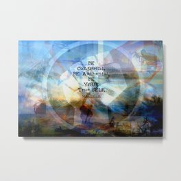 Gandhi Be Congruent Inspirational Quote. Metal Print