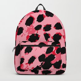 Cheetah Spots in Red and Pink Backpack