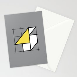 4 // Perfectionist Numbers (Pantone Ultimate Gray + Illuminating) Stationery Cards