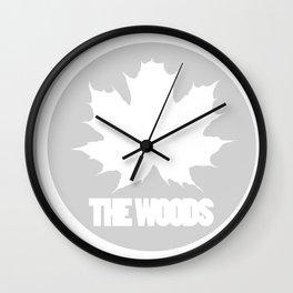 The Woods Leaf Wall Clock
