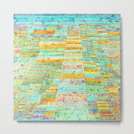 Paul Klee Highways and By Ways Metal Print
