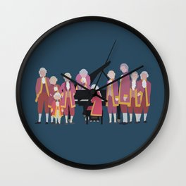 the piano forest Wall Clock