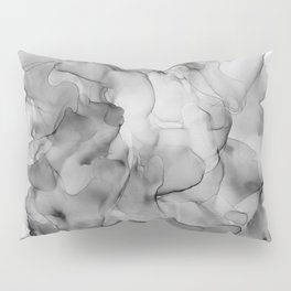 Black and White Marble Ink Abstract Painting Pillow Sham