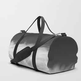 Dandelion Blowball Closeup Black and White #decor #society6 #buyart Duffle Bag