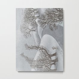 The Night Gardener - Winter Park Metal Print