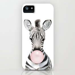 Bubble Gum Zebra iPhone Case