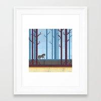 woods Framed Art Prints featuring Woods by Kakel