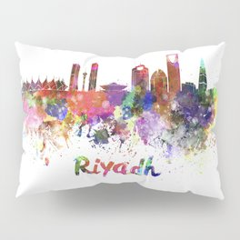 Riyadh skyline in watercolor splatters Pillow Sham