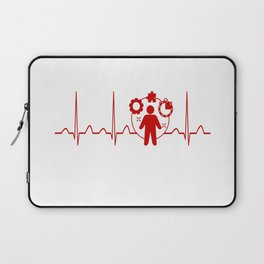 Project Manager Heartbeat Laptop Sleeve