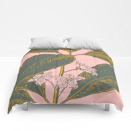 Modern Botanical Banana Leaf Comforters