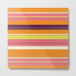 Miami Stripes Metal Print