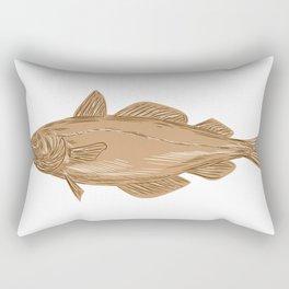 Atlantic cod codling Rectangular Pillow