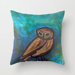 This Owl of patience Throw Pillow