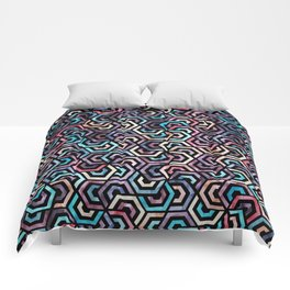 Seamless Colorful Geometric Pattern XXII Comforters