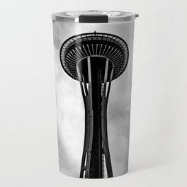 Space Needle Black and white Travel Mug