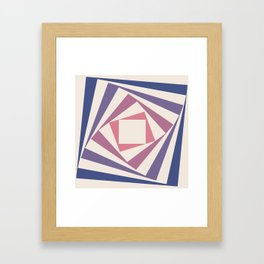 Spinning Squares Palette IIII Framed Art Print