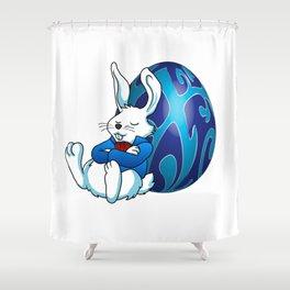 Sleeping Easter Bunny. Shower Curtain