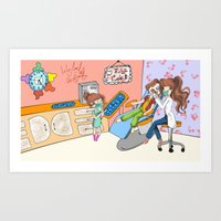 dentist Art Prints featuring dentist  by LoLo ChaN