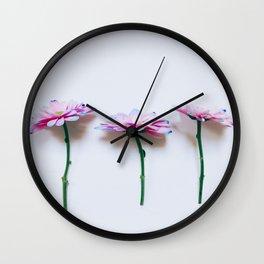 Flower Trio Wall Clock