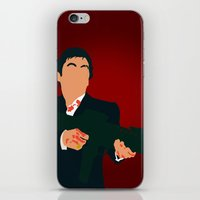 scarface iPhone & iPod Skins featuring Scarface by Tom Storrer