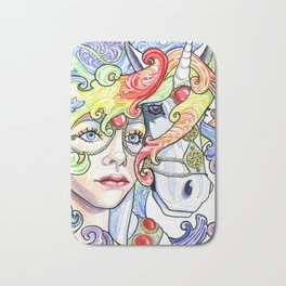 Unicorn Carousel Bath Mat