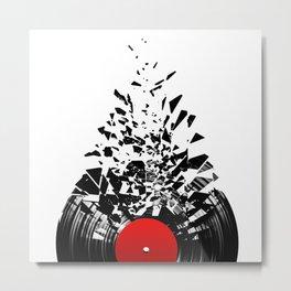 Vinyl shatter Metal Print