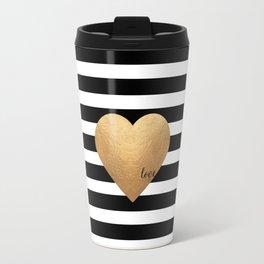 GOLD HEART PRINT, Heart Print,Heart Sign,Heart Decor,Gold Print,Gold Foil,Love Word,Love Quote,Love Travel Mug