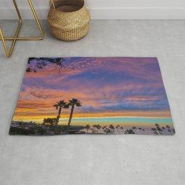 Sunrise Over  C o r o n a  Del Mar Main Beach Rug