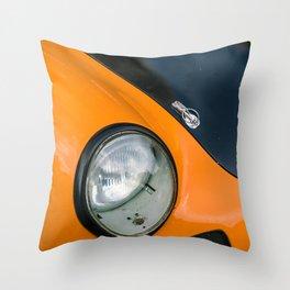 Porsches german car 356 gulf racing Hungaroring orange Throw Pillow