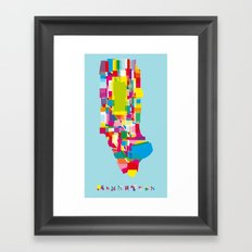 Manhattan Fragments Framed Art Print