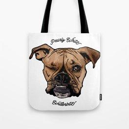 Pearly White Underbite - Boxer Style Dark Tote Bag