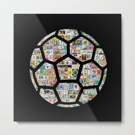 Dark Philately Soccer Ball Metal Print