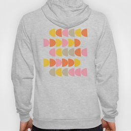 Cute Geometric Shapes Pattern in Pink Orange and Yellow Hoody