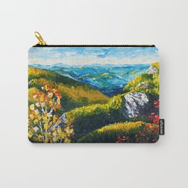 Landscape painting - Autumn dreams - by LiliFlore Carry-All Pouch