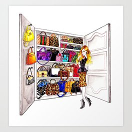 Bag Addict Art Print