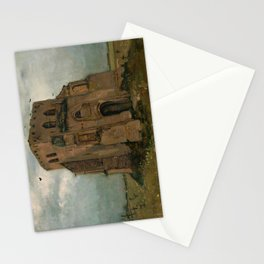 The old church tower at Nuenen by Vincent van Gogh, 1885 Stationery Cards