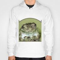 frog Hoodies featuring Frog by Kathleen Stephens